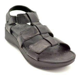Vionic Tami Metallic Back Strap Platform Sandals